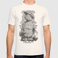 TEDDY Mens Fitted Tee Natural SMALL