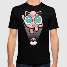 Jigglypuff opened a can of whoop-ass! It's super effective! Mens Fitted Tee SMALL Black