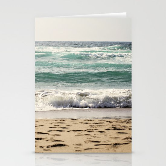 Walking In The Sand Stationery Card