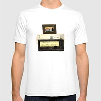 Stereo Stack Mens Fitted Tee White SMALL