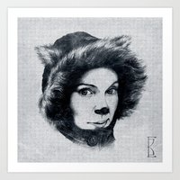 Northern Cat Art Print