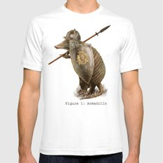 Armadillo (option) SMALL Mens Fitted Tee White