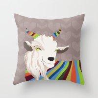 Sweater Goat Throw Pillow