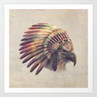Eagle Chief  Art Print
