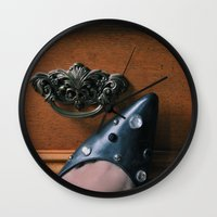 Rhinestoned Left Shoe Wall Clock