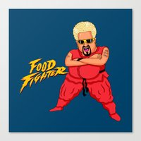 Food Fighter Canvas Print