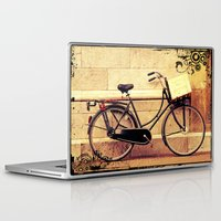 bicycle Laptop & iPad Skins featuring Bicycle by Indigo Rayz