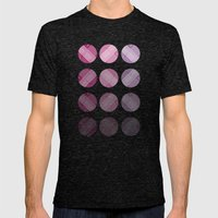 Line Round Mens Fitted Tee Tri-Black SMALL