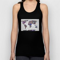 Stars World Map Unisex Tank Top