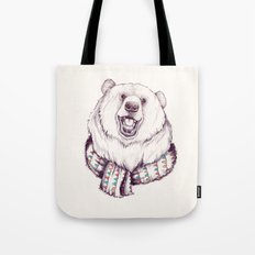 Bear & Scarf Tote Bag