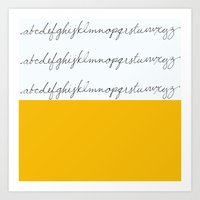 Alphabet-Yellow Art Print