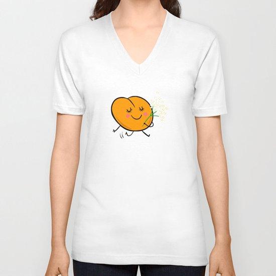 Apricot St Germain V-neck T-shirt