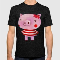 Piglet Mens Fitted Tee Tri-Black SMALL