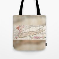 1842 Mather Map Of Long … Tote Bag