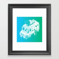 Melty Ice Cream Truck - … Framed Art Print