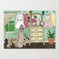 Kaylah: Bookworm Equestrian Canvas Print