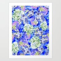 Billowing Blush In Blue Art Print