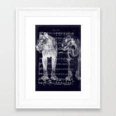 Roar X-Ray Framed Art Print
