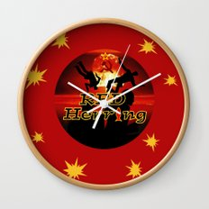Red Herring - The Spies Who Loved Me Not Wall Clock