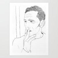 The Smoker Art Print