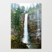 Multnomah Falls In Winte… Canvas Print