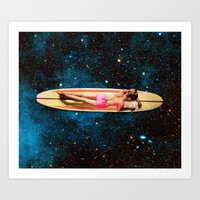 Pleiadian Surfer Art Print
