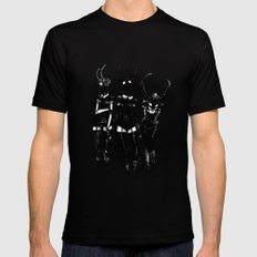 3 horned girls Mens Fitted Tee Black SMALL