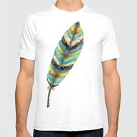 Riviere Feather Mens Fitted Tee White SMALL