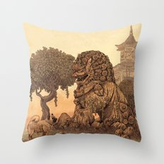 Foo Dogs  Throw Pillow