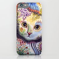 iPhone & iPod Case featuring Lucy ... Abstract cat art by Amy Giacomelli
