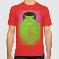 The Grunge Green Rage Mens Fitted Tee Red SMALL