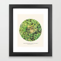 Kiss a Toad Framed Art Print