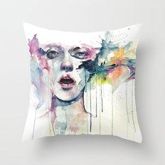 learn to bloom Throw Pillow