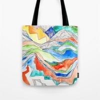 Technicolor Mountains Tote Bag