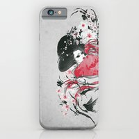 iPhone & iPod Case featuring The Geisha by Anwar Rafiee