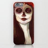 sugar skull iPhone & iPod Cases featuring Sugar Skull by LaurenceBaldetti