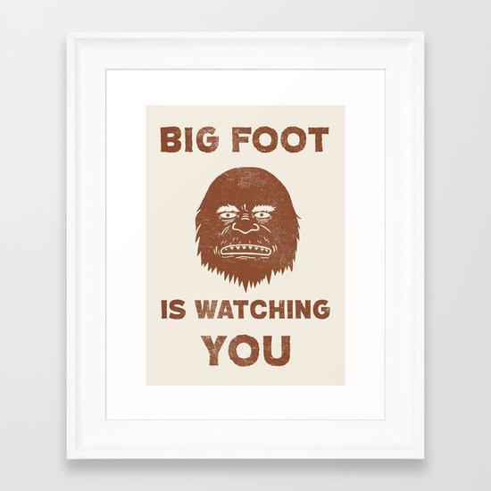 Big Foot Is Watching You Framed Art Print