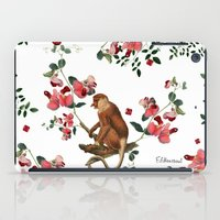 Monkey World: Nosy - White iPad Case