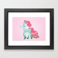 Mint Centaur Girl Framed Art Print