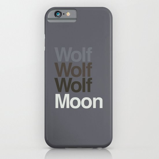 3 Wolvetica iPhone & iPod Case