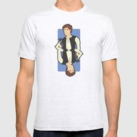 Han Solo Mens Fitted Tee Ash Grey SMALL