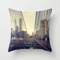Oncoming Traffic Throw Pillow