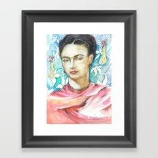 Frida Kahlo, my tribute Framed Art Print