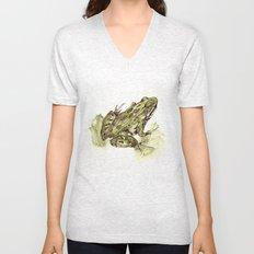 Northern Leopard Frog Unisex V-Neck