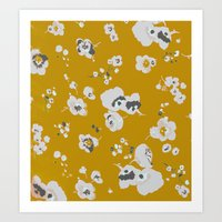 Mustard Poppies Art Print