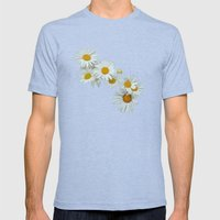 Flower Mens Fitted Tee Tri-Blue SMALL