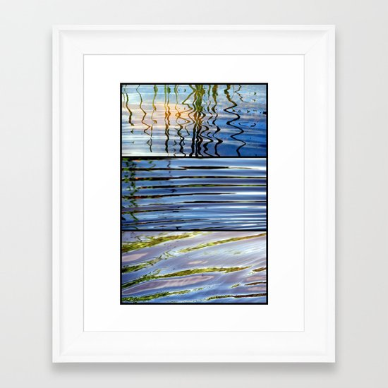 Three Minutes in the Ripple of Time - Triptych Framed Art Print