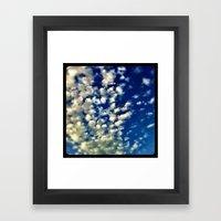 A bunch of clouds in the sky. Framed Art Print