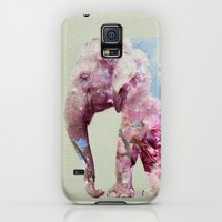 Galaxy S5 Cases featuring Cherry blossom Elephant by vin zzep