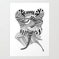 Elephant Butterfly Art Print